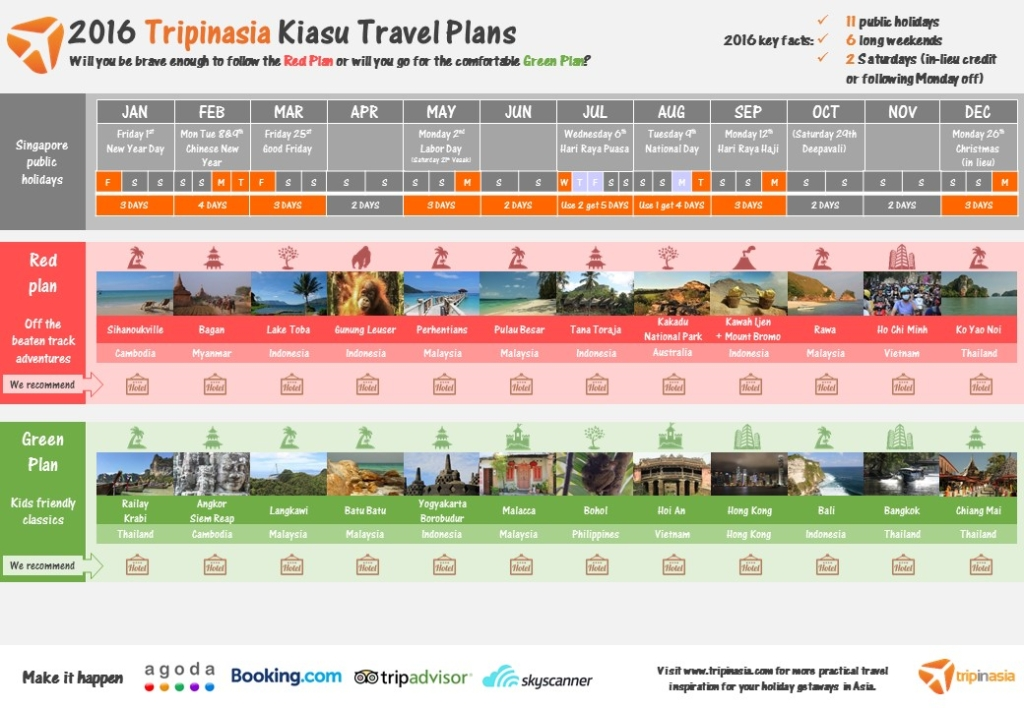 2016 Kiasu Tripinasia Travel Red and Green Plans