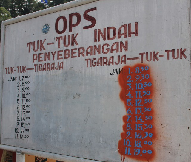 Parapat Tuk Tuk Lake Toba Ferry schedule