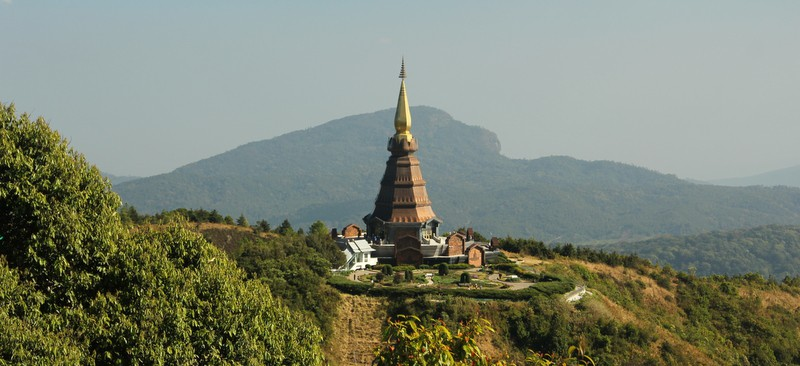 Chiang Mai - view of the great Stuppas during the 2 hour Doi Ithanon Park trek
