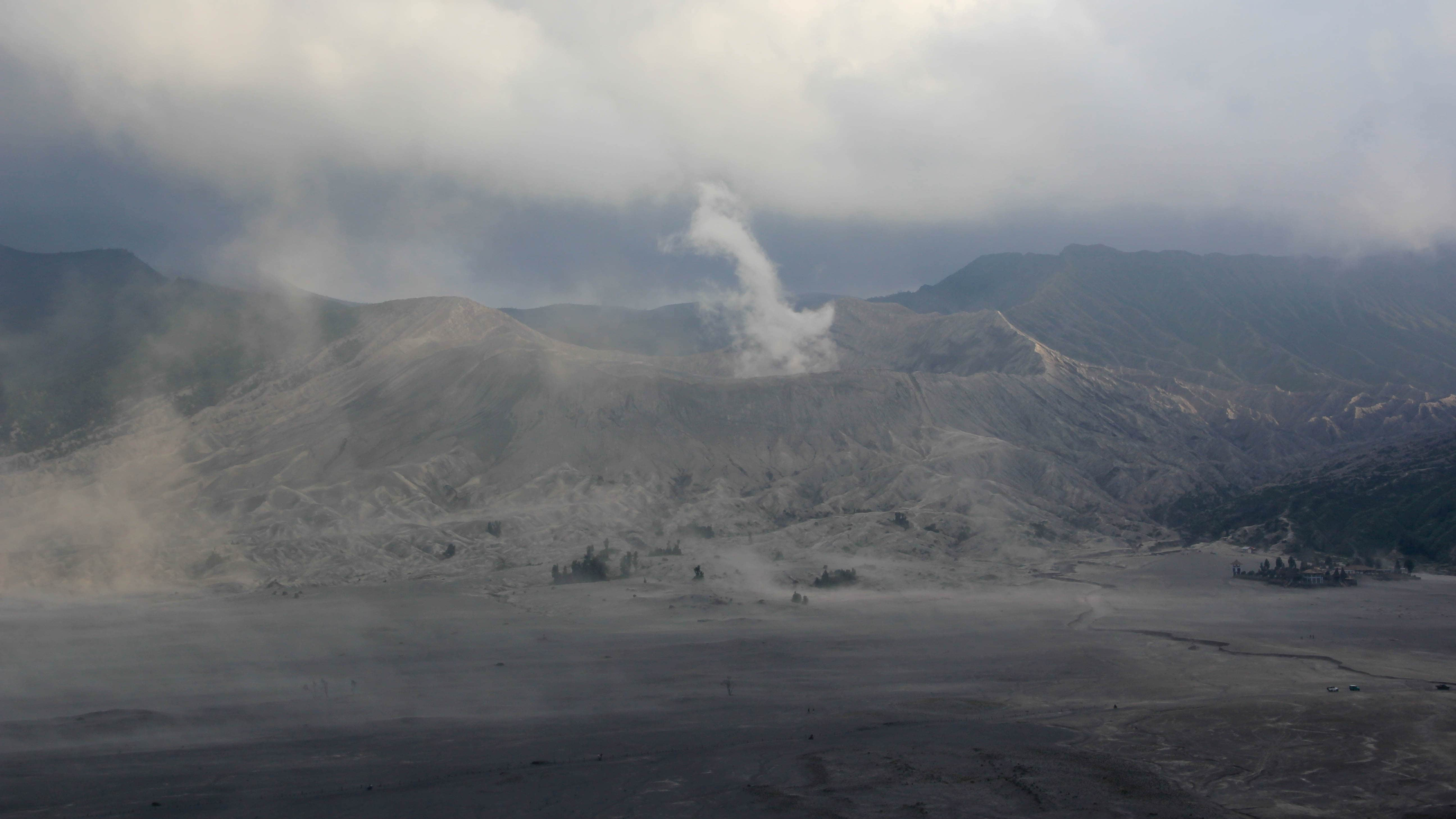 Smoking Bromo seen from the caldera