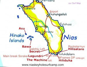 Nias - Surf Spots Map