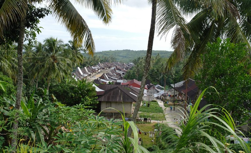 Nias - View of Orihili village