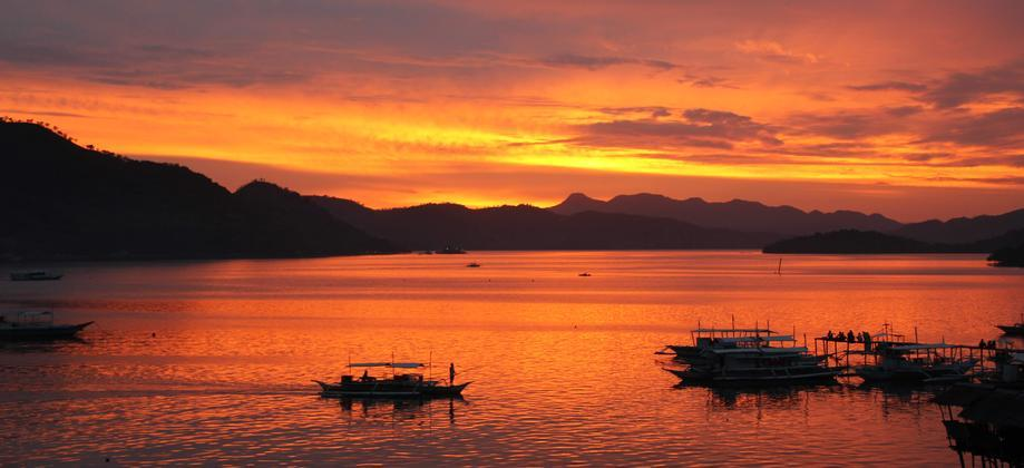 Coron Island - Sunset in Coron town