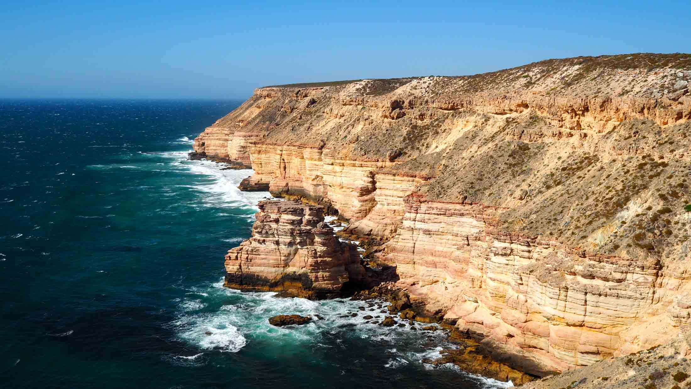 Coastal cliffs south of Kalbarri