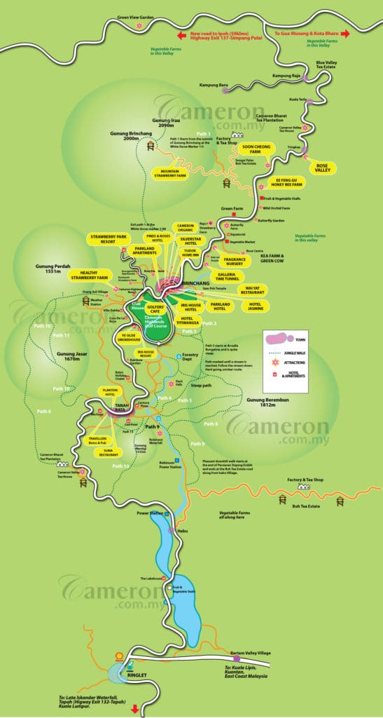 cameron_highlands_map